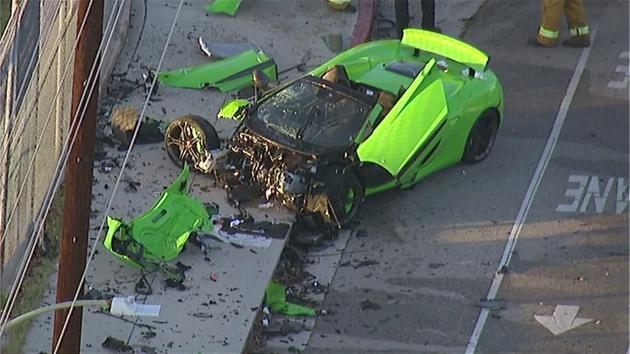 McLaren sports vehicle smashed up in hit-run crash in Woodland Hills