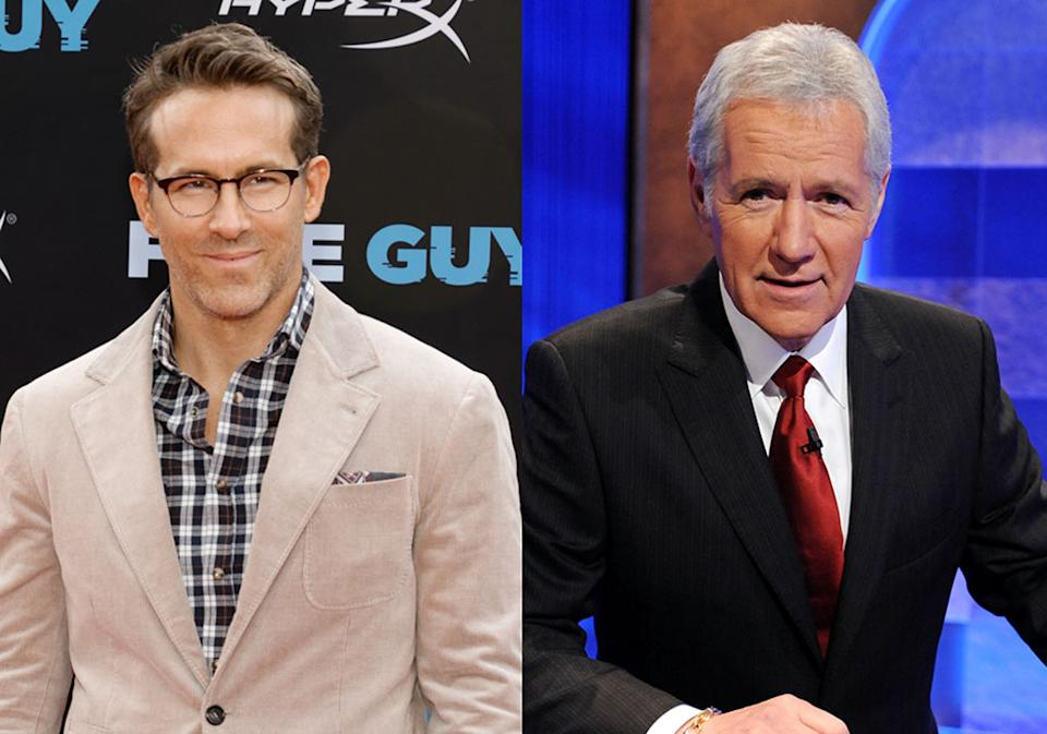 Ryan Reynolds has fond memories of the late Alex Trebek. (Photo: Getty Images)