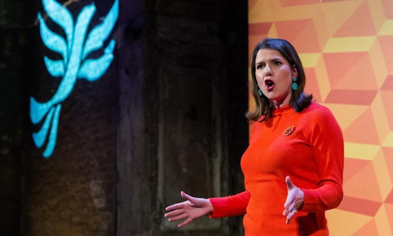 The Lib Dems, headed by Jo Swinson, have started a disciplinary process. Photograph: Wiktor Szymanowicz/Rex/Shutterstock