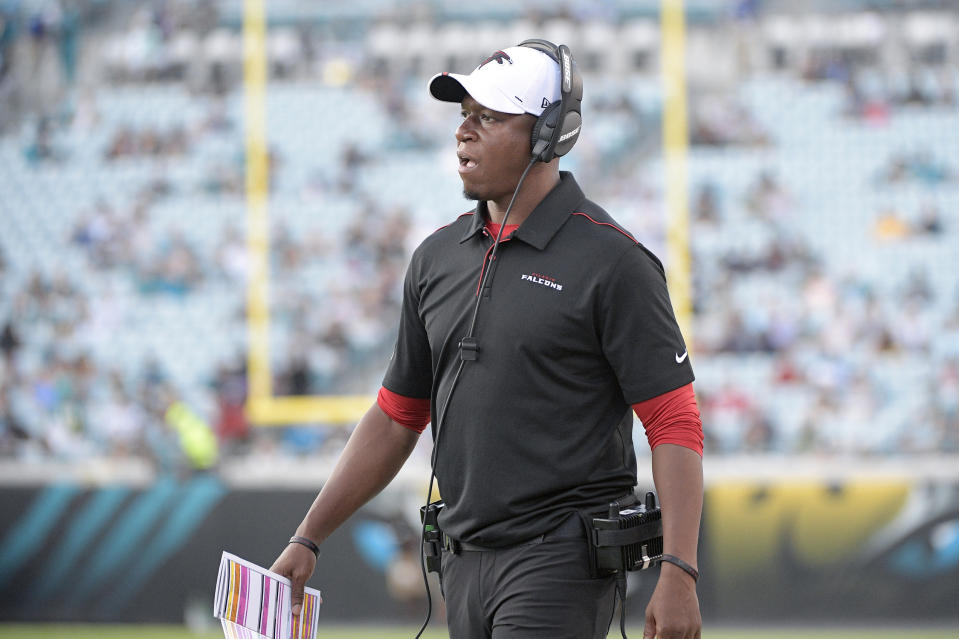 Raheem Morris will be the Atlanta Falcons' interim coach. (AP Photo/Phelan M. Ebenhack, File)