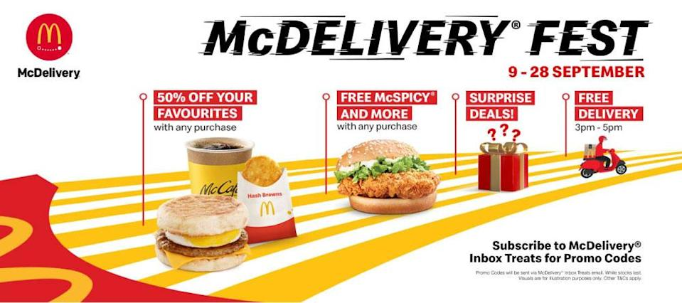 Mc Delivery infographic