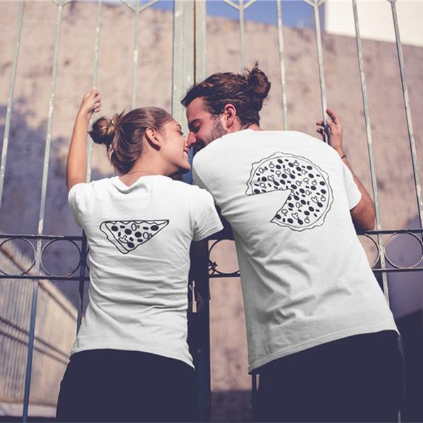 """<p><strong></strong></p><p>couplestuffs.com</p><p><strong>$15.95</strong></p><p><a href=""""https://www.couplestuffs.com/collections/couple-shirts/products/pizza-couple-shirts"""" target=""""_blank"""">Shop Now</a></p><p>Gimme a pizza that! Let them know they're your favorite slice by proclaiming your love with coordinating pizza shirts. It doesn't get cheesier than this. </p>"""