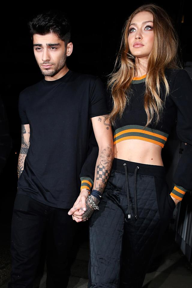 "<p>3. Supermodel and ""it"" girl Gigi Hadid is his girlfriend. (Photo: Getty Images) </p>"
