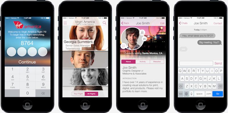 Virgin America announces social network to help you make business contacts in the sky