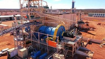 Ball mill installed and commissioning underway (CNW Group/Elemental Royalties Corp.)