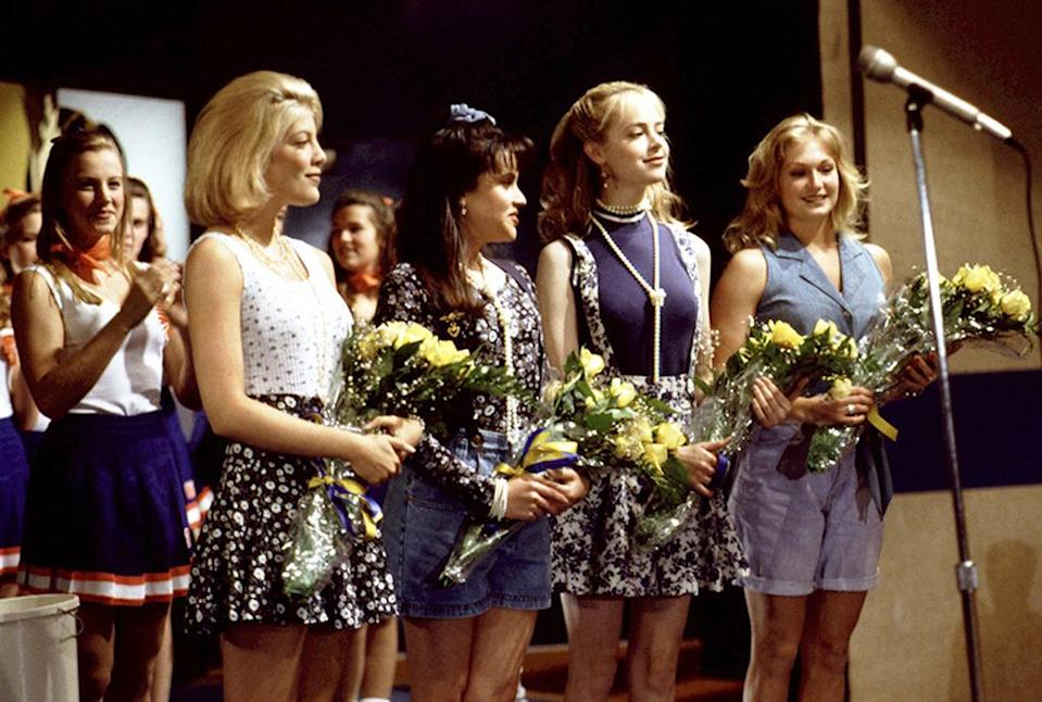 <p><b>Aired:</b> September 26, 1994 on NBC<br><b>Stars:</b> Kellie Martin, Tori Spelling, and Valerie Harper<br><br><b>Ripped from the headlines about:</b> A popular, mean girl teenager (Spelling, duh) who is murdered by a shy, middle class, jealous teen (Martin) who tries to befriend Spelling's character and her rich clique. Like in the real-life 1984 California case it was based on, Martin's killer passes a lie detector test and at first gets away with murder… until her conscience, and an FBI agent's warning that she was going to soon be arrested, led her to confess the murder to her mother (Harper) in a letter.<br><br><i>(Credit: Everett Collection)</i> </p>
