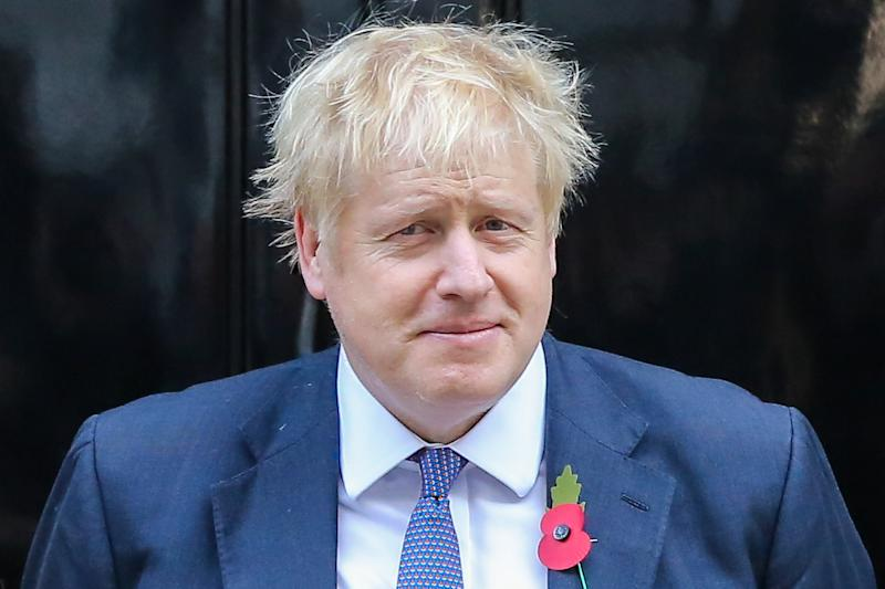 LONDON, UNITED KINGDOM - 2019/10/28: British Prime Minister Boris Johnson at the steps of No 10 Downing Street on the day the MPs debate and vote on his motion for a general election on 12 December 2019. The UK will not leave the European Union on 31 October 2019 as the leaders of the European Union have granted an extension for Brexit until 31 January 2020. (Photo by Steve Taylor/SOPA Images/LightRocket via Getty Images)