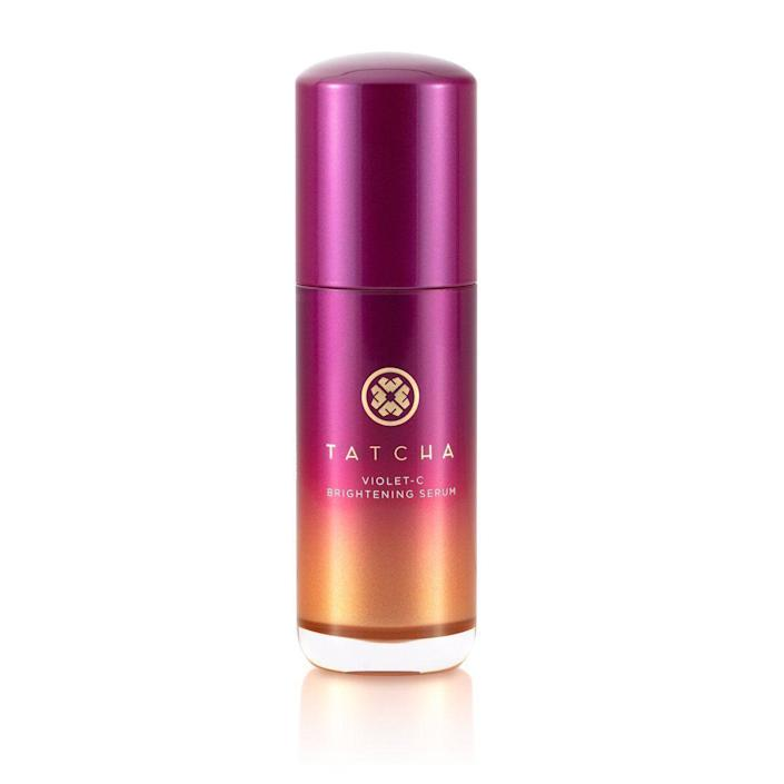"""<p><strong>Tatcha</strong></p><p>tatcha.com</p><p><strong>$88.00</strong></p><p><a href=""""https://go.redirectingat.com?id=74968X1596630&url=https%3A%2F%2Fwww.tatcha.com%2Fproduct%2Fviolet-c-brightening-serum%2FVIOLET-C-SERUM.html%3Fcgid%3Dface_serums_essence&sref=https%3A%2F%2Fwww.townandcountrymag.com%2Fstyle%2Fbeauty-products%2Fg37621911%2Ftatcha-sale-september-2021%2F"""" rel=""""nofollow noopener"""" target=""""_blank"""" data-ylk=""""slk:Shop Now"""" class=""""link rapid-noclick-resp"""">Shop Now</a></p><p>Hello, brightness. This vitamin C serum gives you that glowing, healthy sheen to your skin that you've always wanted.</p>"""