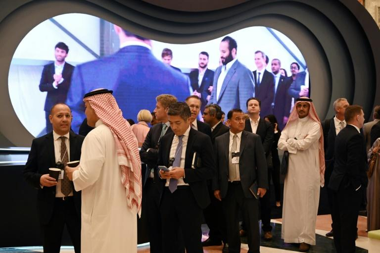 Western executives are back in numbers at Saudi Arabia's flagship investment conference but wariness lingers after an international outcry over the murder of dissident Saudi journalist Jamal Khashoggi kept most away last year (AFP Photo/Fayez Nureldine)