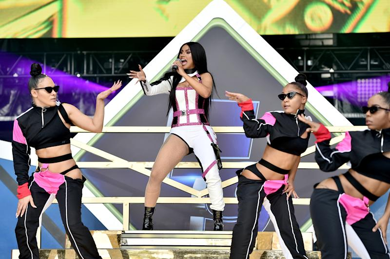 MIAMI, FLORIDA - JANUARY 31: Cardi B performs onstage during Universal Pictures Presents The Road To F9 Concert and Trailer Drop on January 31, 2020 in Miami, Florida. (Photo by Theo Wargo/Getty Images for Universal Pictures)