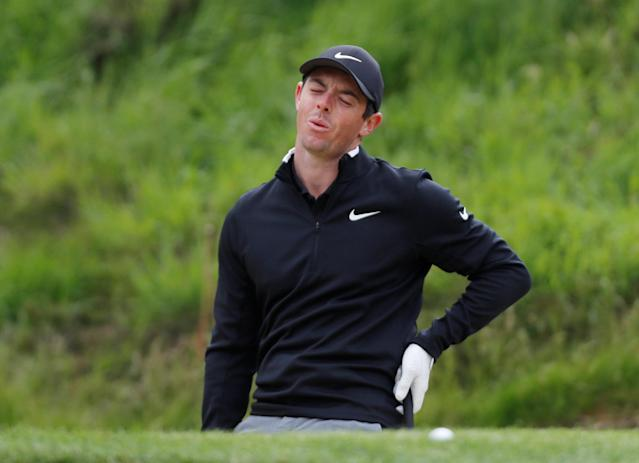 Golf - European Tour - BMW PGA Championship - Wentworth Club, Virginia Water, Britain - May 23, 2018 Northern Ireland's Rory McIlroy reacts during the pro-am Action Images via Reuters/Paul Childs