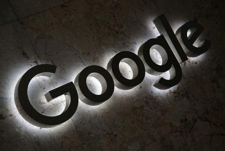 A Google logo is displayed at the entrance to the internet based company's offices in Toronto, Ontario, Canada September 9, 2018. REUTERS/Chris Helgren