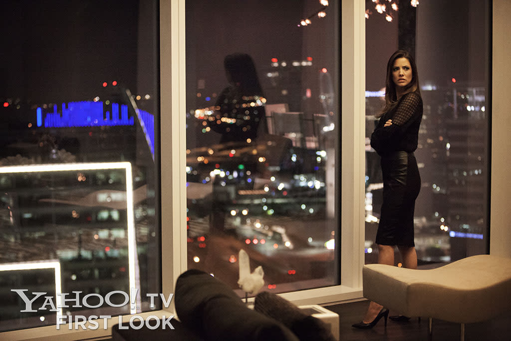 "Pamela Rebecca Barnes (Julie Gonzalo) in Season 2 of ""Dallas"" on TNT."
