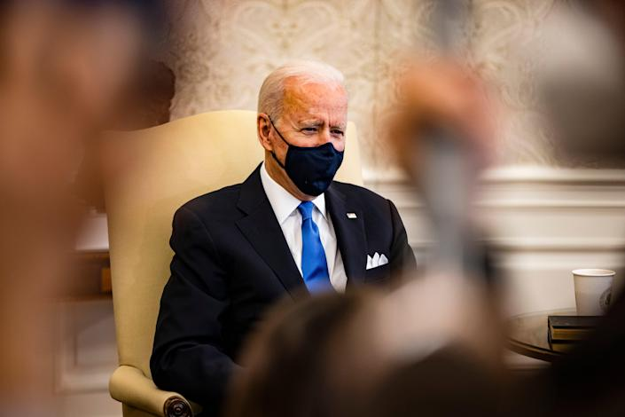 Joe Biden took questions from House Democrats on Wednesday as his Covid relief plan edges towards finish line. (Getty Images)