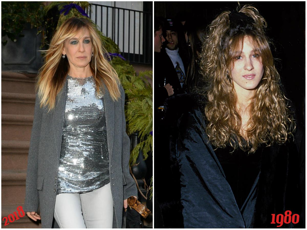 <p><strong>When: Feb. 6, 2018</strong><br /> Sarah Jessica Parker is rocking an updated version of her favourite 'do from when she was a teenager!<em> (Photo left 2018, photo right, SJP at 15-years-old in 1980/Getty) </em> </p>