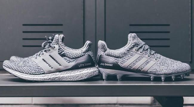709b6e9220d Adidas Is Dropping A Silver UltraBOOST Football Cleat Just In Time For The  Super Bowl