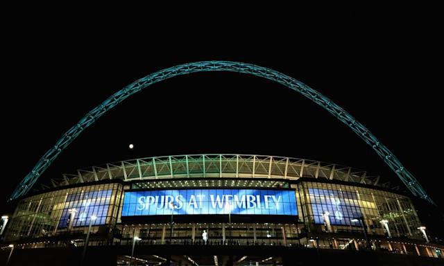 "<span class=""element-image__caption"">Tottenham Hotspur will play all their home games at Wembley next season during White Hart Lane's redevelopment..</span> <span class=""element-image__credit"">Photograph: Matt Lewis - The FA/The FA via Getty Images</span>"