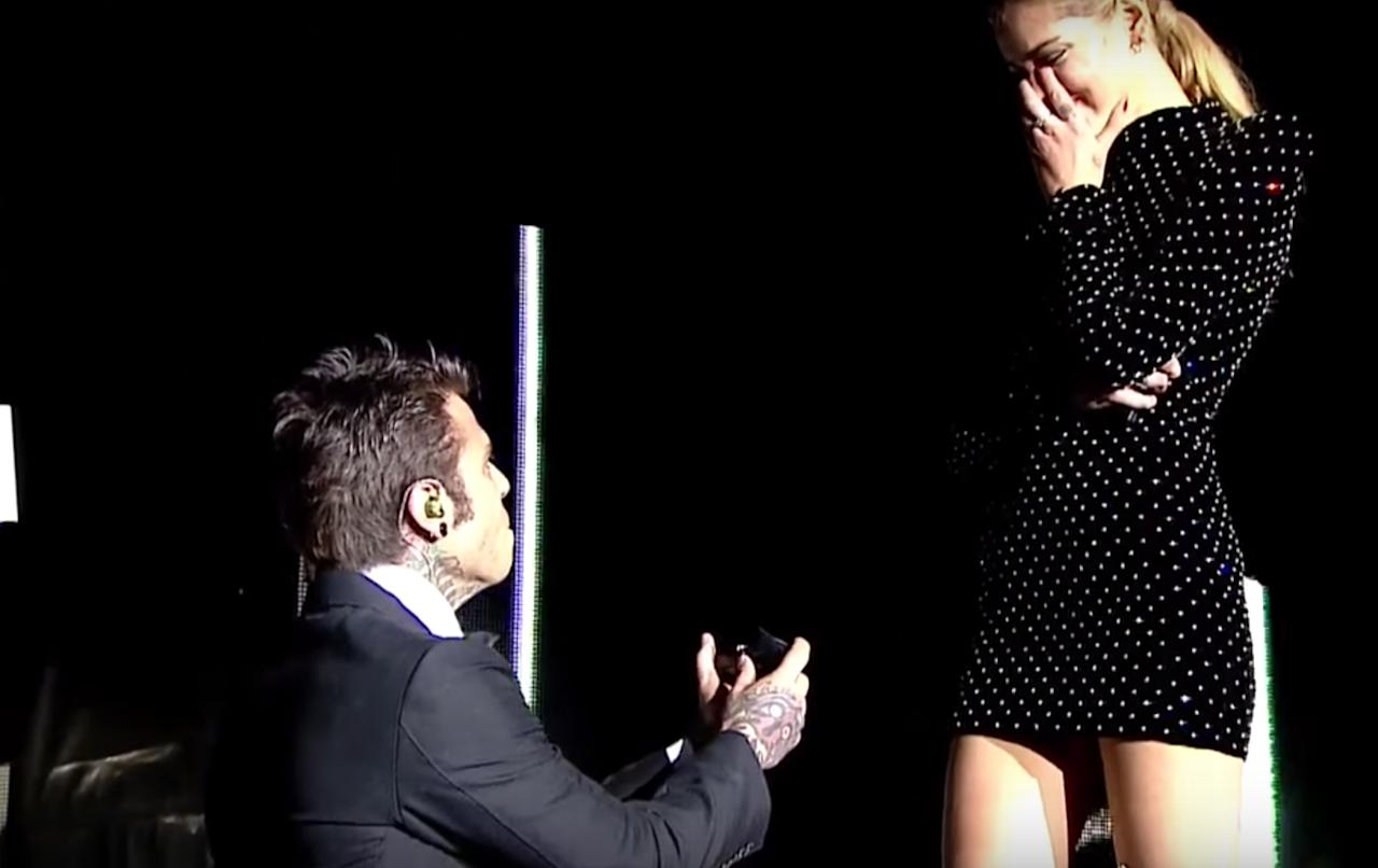 <p>Ideally you or your significant other will have taken singing lessons, too, as Chiara Ferragni's Italian singer boyfriend Fedez serenaded her getting down on one knee – breaking the internet in the process.<br /><em>[Photo: YouTube/Mainstream]</em> </p>