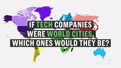 If tech companies were world cities, here's what they wou