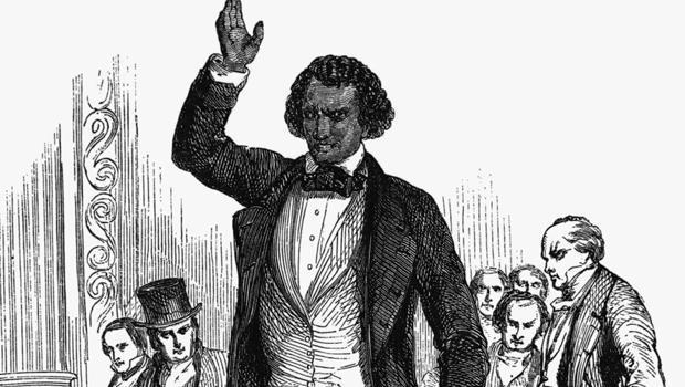 Frederick Douglass escaped slavery to the North, and in 1852 delivered a fiery speech condemning liberty for some but not all. / Credit: CBS News