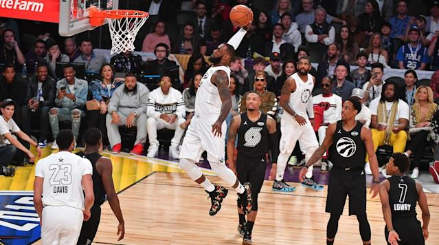 "<p>LOS ANGELES — The 2018 NBA All-Star Game is in the books, and Team LeBron beat Team Steph <a href=""https://www.si.com/nba/game/1948351"" rel=""nofollow noopener"" target=""_blank"" data-ylk=""slk:148-145"" class=""link rapid-noclick-resp"">148-145</a> after a fourth–quarter comeback that was genuinely dramatic down the stretch. LeBron James was your All-Star MVP (29 points), while Damian Lillard (21 points), DeMar DeRozan (21 points) and Joel Embiid (19 points, 8 rebounds) led the way for Team Steph. </p><p>Here are five quick thoughts on the surprisingly competitive clash from Staples Center...</p><p><strong>1. The new All-Star format <em>worked. </em>And I'm as shocked as anyone. </strong>The All-Star Game looked like it was beyond saving last year, and the new All-Star draft looked like a desperate, contrived, weirdly secretive process that wouldn't change much. If anything, eliminating conferences would just make it harder to track the halfhearted efforts of everyone involved. But then the game started and ... I think it worked? A game that's fun for three quarters and genuinely dramatic down the stretch is the best–case scenario for All-Star, and that's what happened in L.A.</p><p>The first two hours of basketball didn't suddenly turn into the NBA playoffs, but that's fine. This was a low bar and the NBA cleared it with room to spare. There were moderate levels of defense played, players on both teams were going hard almost the entire time, and we got the most entertaining All-Star Game in several years. Progress!</p><p><strong>2. LeBron James really might play forever.</strong> The dude is just unbelievable. Granted it's an All-Star Game, but he finished with a near triple–double (29 points, 10 rebounds, eight assists) and took over the game just as it looked like Team Steph was pulling away in the fourth quarter. </p><p>LeBron is 33 years old and he's been the best player in the league for almost a decade. We know that. But as the years pass—with each season featuring 100 games and nine months of mileage—it's sort of incredible that he looks nowhere near ready to pass the torch to anyone else. On a court with Steph Curry, Kevin Durant, Giannis Antetokounmpo and James Harden, the best player in the building was clear the entire time. </p><p>?</p><p>?</p><p><strong>3. There's no such thing as too much Embiid.</strong> Joel Embiid is playing back-to-backs, the Sixers are winning, and Embiid made his first All-Star Game this year. <em>[knocking on wood very hard]</em> All of this is great. And not only did Embiid make the All-Star game, but he made the All-Star a lot more fun. Whether he was unfolding his massive frame into floaters in the lane or crossing over guards and launching threes from the perimeter, he did a nice job of mixing things up the entire time he was on the floor. Also ... </p><p>For the record, Russell Westbrook answered with an and-one lay-up at the rim to make it a one-point game in the final minutes. Most important: it makes me very happy that the Embiid-Westbrook feud is still alive. </p><p><strong>4. The intros and the national anthem did not work.</strong> Kevin Hart is omnipresent at All-Star Weekend and Rob Riggle has probably made a billion dollars from pregame shows and ESPY skits alone. Both are easy targets to ridicule. I don't want to pile on too much, but, look, everyone can agree the introductions did not need to be 30 minutes long ever again. This is the next change for Adam Silver to make, and it should be a much simpler process than fixing the actual game. As for the anthem ... </p><p>Fergie<em> <a href=""https://www.si.com/nba/2018/02/18/fergie-national-anthem-2018-nba-all-star-game-reactions"" rel=""nofollow noopener"" target=""_blank"" data-ylk=""slk:went for it"" class=""link rapid-noclick-resp"">went for it</a> </em>with an extended anthem rendition, and she, uh, didn't quite land it. The funniest moment of the night came when the arena cameras caught Draymond Green as his brain shut off somewhere during minute eight of the Fergie anthem. The whole stadium burst out laughing, forcing Draymond to crack a smile, himself. For me, this made the Fergie anthem worth it. </p><p><strong>5. Michael Jordan is up next.</strong> The crowd in L.A. was sleepy for most of the night, but late in the fourth quarter fans <em>erupted </em>for Michael Jordan as the league announced that Charlotte is hosting the 2019 All-Star Game. So there you go. Til next year... </p>"
