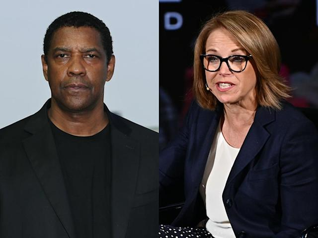 """Katie Couric remembers tense exchange with Denzel Washington that was """"uncalled for."""" (Photo: Getty Images)"""