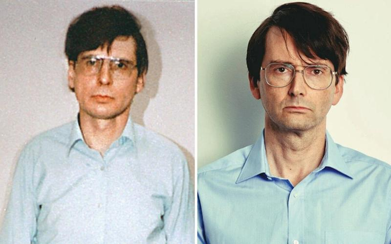 Dennis Nilsen (left) is played by David Tennant (right) in a new ITV miniseries - Enterprise News