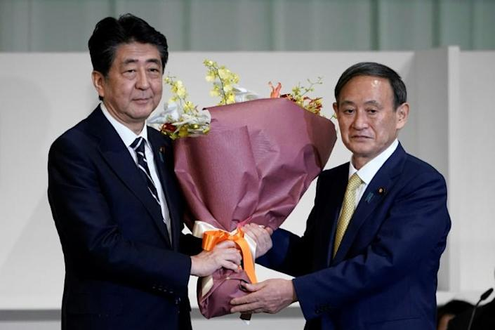 Abe is passing the baton to his close advisor and supporter Yoshihide Suga, who has pledged to continue his policies