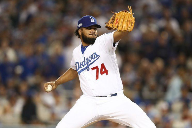 Kenley Jansen is coming back to the Dodgers. (Getty Images/Sean M. Haffey)