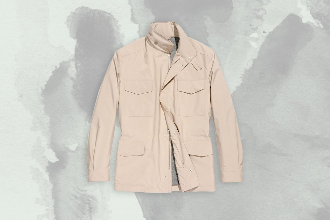 """<p>Advances in technology mean that travelers can now purchase a cashmere sweater that doubles as a water and wind-proof jacket. The Traveller Windmate comes from the cashmere kings at Loro Piana, and is perfect both for snuggling up on your red-eye and withstanding drizzle in the arrivals terminal Uber line.</p> <p><strong>Buy Now:</strong> <a href=""""https://fave.co/2OWNqCt"""" rel=""""nofollow"""" target=""""_blank"""">Women's Traveller Windmate, $2,995, saksfifthavenue.com</a><br> <strong>Buy Now:</strong> <a href=""""https://fave.co/2ORfl6L"""" rel=""""nofollow"""" target=""""_blank"""">Men's Traveller Windmate, $2,995, saksfifthavenue.com</a></p>"""