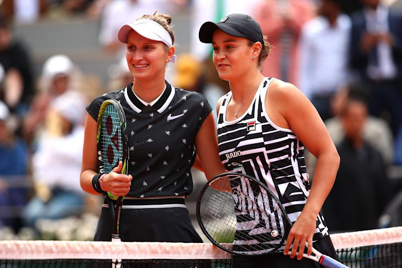 They were all smiles before the match, but only Ashleigh Barty would be smiling at the end. (Getty)