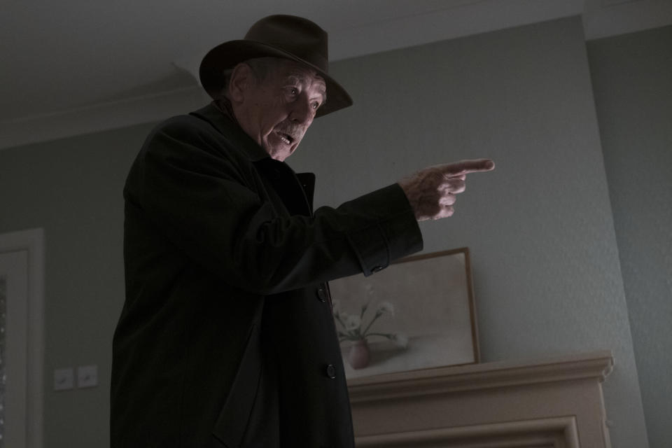 Ian McKellen as Roy Courtnay in Warner Bros. Pictures' and New Line Cinema's drama <i>The Good Liar</i>, a Warner Bros. Pictures release.