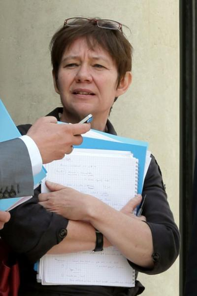 File photo of Odile Renaud-Basso who has been named as the new head of the French Treasury