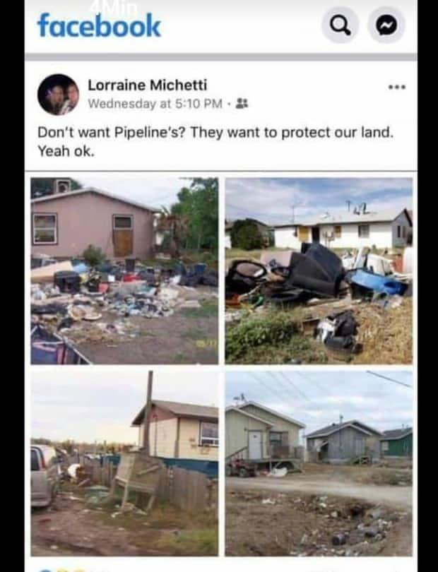 A Facebook post from Pouce Coupe Mayor Lorraine Michetti was quickly denounced as racist by several officials in the Peace River Regional District.