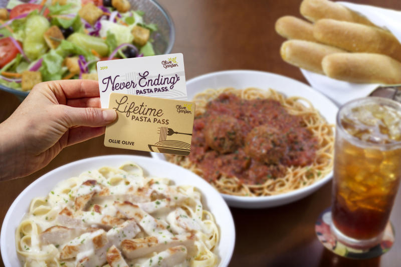 Olive Garden introduces the Lifetime Pasta Pass (Courtesy of Olive Garden)