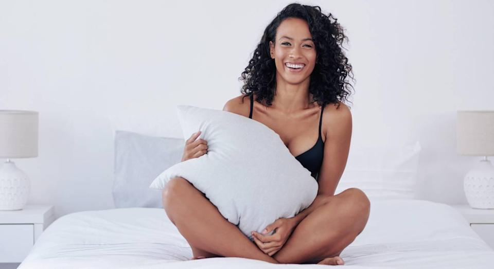 This seamless Sloggi bra feels like a second skin. (Getty Images)