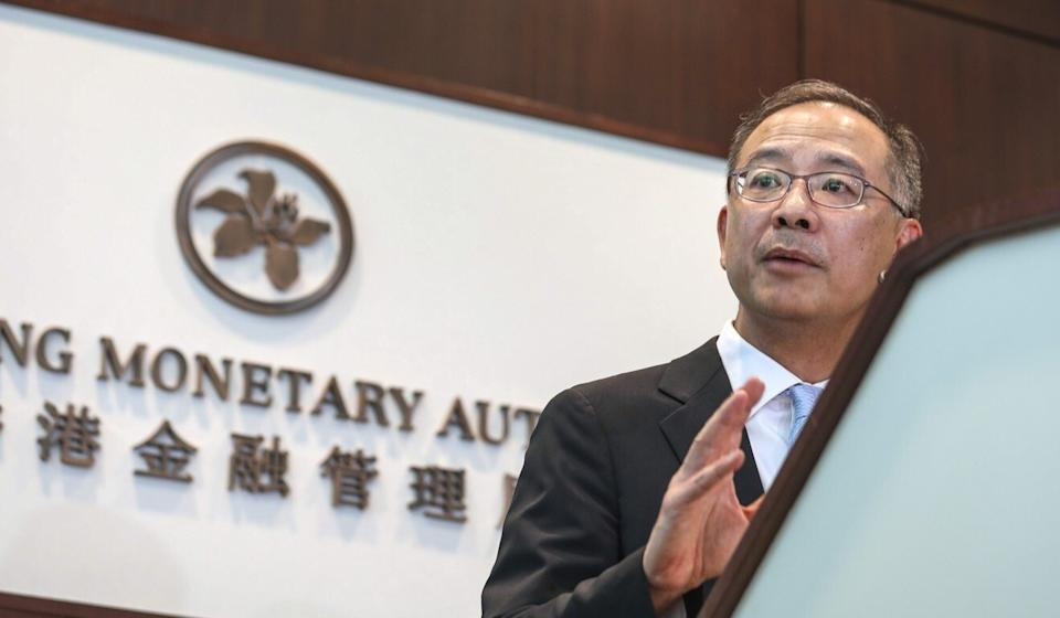 Eddie Yue Wai-man, the chief executive of Hong Kong Monetary Authority, said on Monday that Hong Kong's capital market and banking sector are solid. Photo: Xiaomei Chen