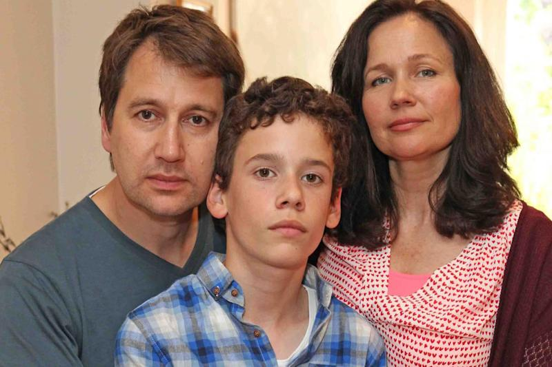 """""""Total shock"""": Nadim Ednan-Laperouse with wife Tanya and son Alexl Picture: Nigel Howard"""