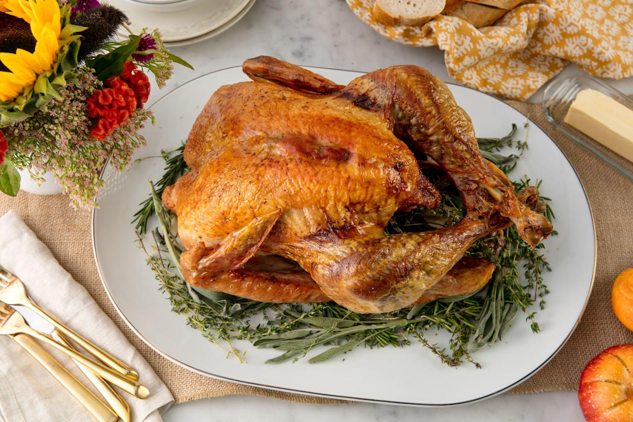 """<p>If you find that part of the turkey is undercooked, don't wrap it up with the intention of cooking it later. According to the <a rel=""""nofollow"""" href=""""https://www.fsis.usda.gov/wps/portal/fsis/topics/food-safety-education/get-answers/food-safety-fact-sheets/safe-food-handling/leftovers-and-food-safety/ct_index"""">USDA</a>, food must be cooked to a safe temperature before it's refrigerated to reduce the risk of foodborne illness. Using a food thermometer is the easiest to know whether you've done it right.</p>"""