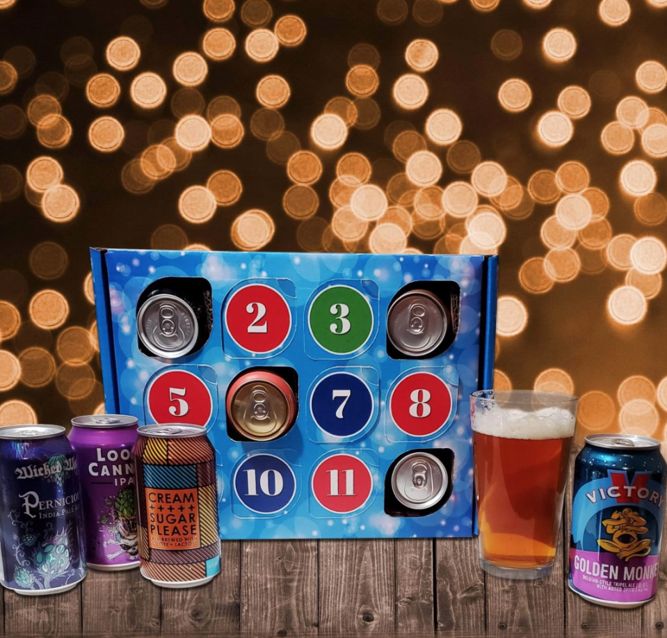 """<p><strong>Give Them Beer</strong></p><p>givethembeer.com</p><p><strong>$79.00</strong></p><p><a href=""""https://www.givethembeer.com/products/beer-advent-calendar"""" rel=""""nofollow noopener"""" target=""""_blank"""" data-ylk=""""slk:Shop Now"""" class=""""link rapid-noclick-resp"""">Shop Now</a></p><p>If spirits aren't their thing, why not gift 12 days of delicious beer? This collection contains a variety of the highest-rated craft brews from 2o19, including picks from Elysian Brewing, Dogfish Head, and Heavy Seas.</p>"""