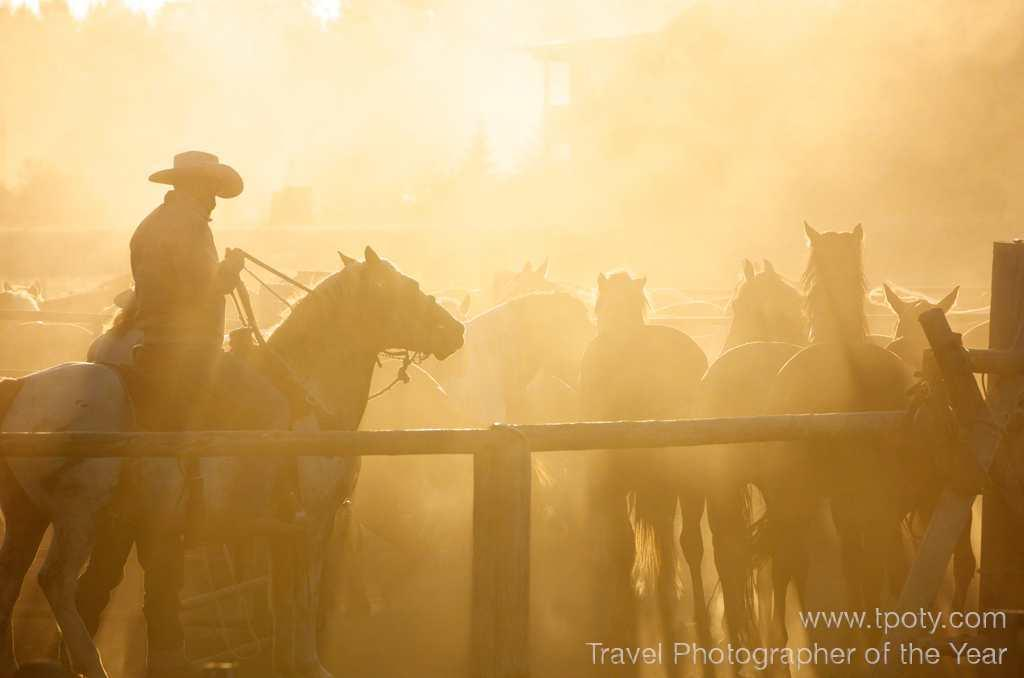 Jackson Hole, Wyoming, USA <br><br>Samuel Fisch, USA (age 15)<br><br>Camera: Nikon D7000 <br><br>Winner – Young Travel Photographer of the Year 2012<br><br>For his evocative portfolio of cowboys and horses,Samuel Fisch wins a Fujifilm X-S1 camera and Adobe Photoshop Lightroom 4.