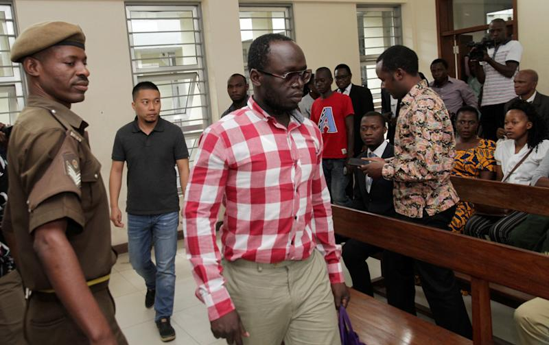 Tanzanian investigative journalist Erick Kabendera arrives at the Kisutu Residents Magistrate Court in Dar es Salaam, Tanzania. (Reuters/Emmanuel Herman)