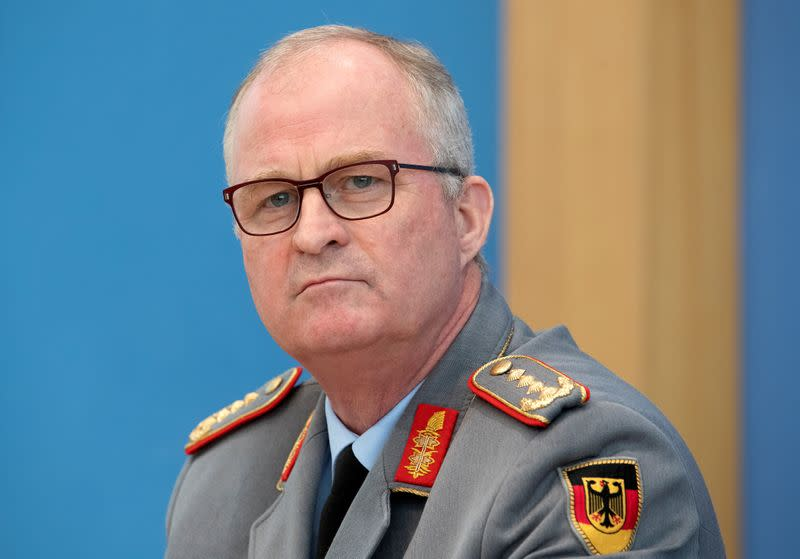 FILE PHOTO: German Defense Minister speaks on coronavirus containment measures