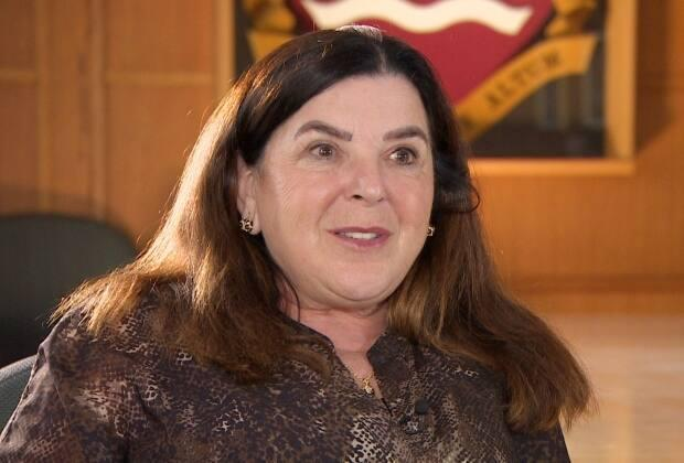 Memorial University President Vianne Timmons says a move to change the university's name to 'Memorial University of Newfoundland and Labrador' is long overdue. (Sherry Vivian/CBC - image credit)