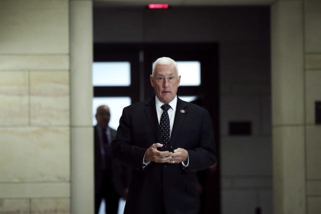 Rep. Greg Pence arrives at the Capitol on Jan. 8. (Photo: Drew Angerer/Getty Images)