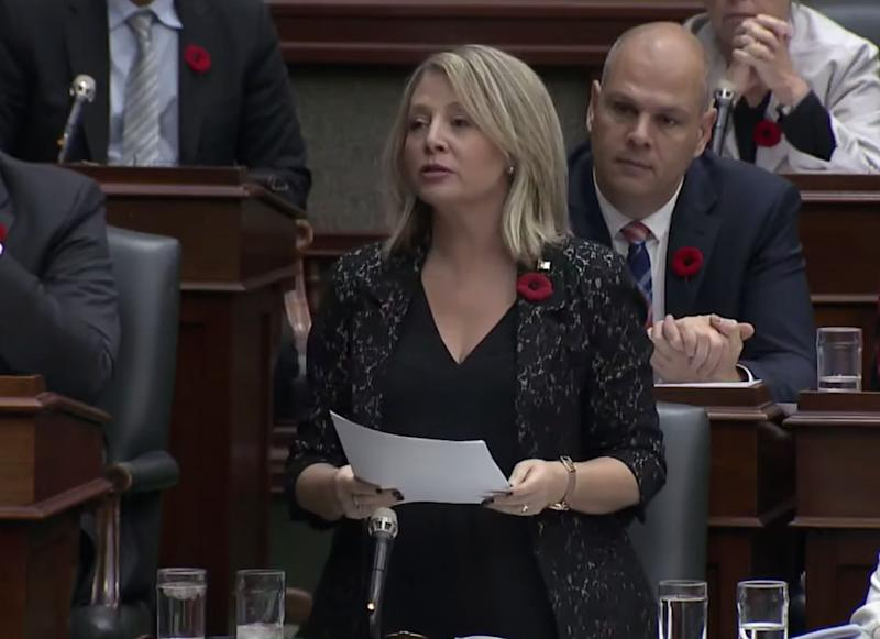 Ontario MPP Marit Stiles speaks during question period at Queen's Park on Nov. 7, 2019. (Photo: Legislative Assembly of Ontario)