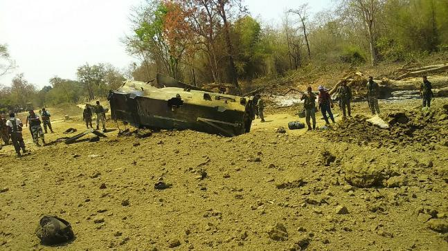 Nine CRPF personnel of 212 battalion were killed and six were injured in an IED blast by Naxals today in Kistaram area of Chhattisgarh's Sukma district.