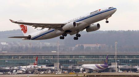 FILE PHOTO: Air China Airbus A330 aircraft takes off from Zurich Airport