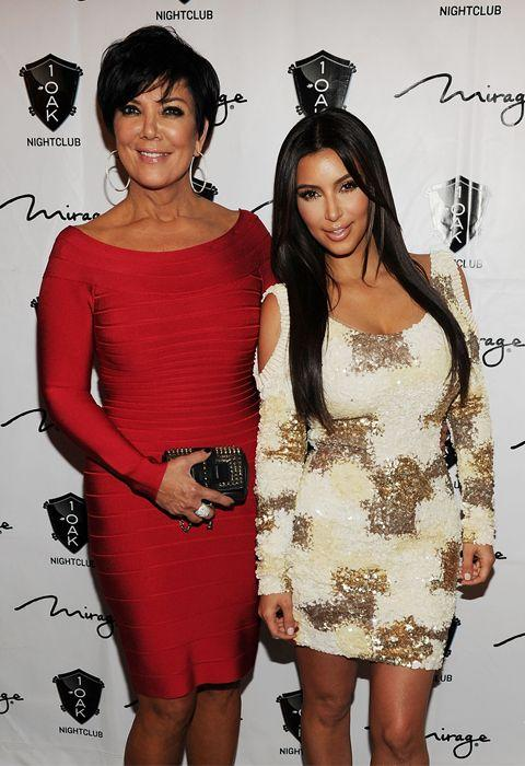 Kim Kardashian (R) with her mother Kris Jenner at the Mirage in Las Vegas. Credit: Getty Images