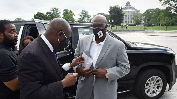 PHOTO: Philonise Floyd, the brother of George Floyd, who was killed by Minneapolis police officers, arrives at the U.S. Capitol to testify at 'Oversight Hearing on Policing Practices and Law Enforcement Accountability' in Washington, D.C., June 10, 2020. (Olivier Douliery/AFP via Getty Images)